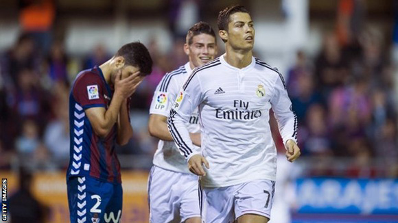 El Madrid derrotó al Eibar a domicilio. Foto: Getty Images.