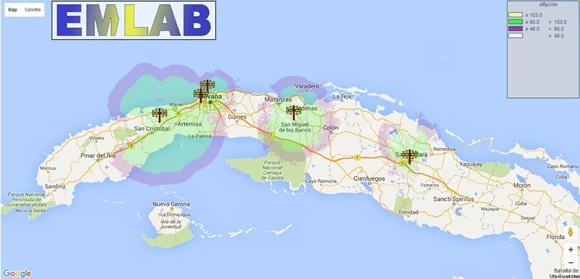 Mapa con la cobertura HD prevista al cierre del año.
