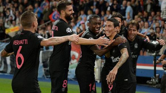 Di María consigue doblete en Champions. Foto: AFP