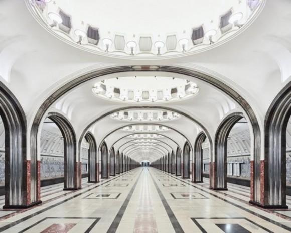 El Metro de Moscú. Foto David Burdeny
