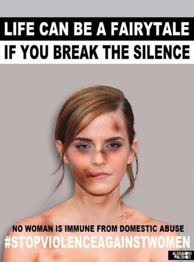 Emma Watson se une a campaña por el Día de la Eliminación de la Violencia contra la Mujer. Foto: Alexsandro Palombo.