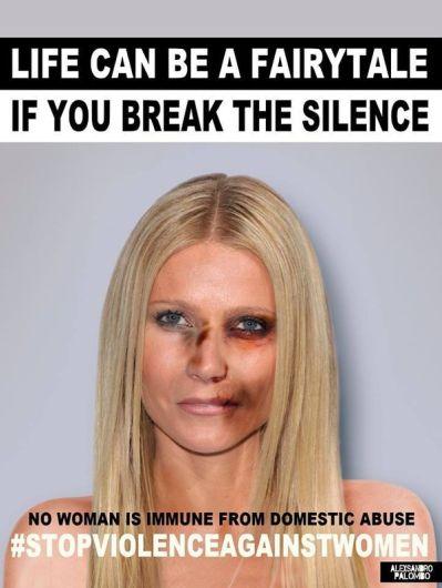 Gwyneth Paltrow se une a campaña por el Día de la Eliminación de la Violencia contra la Mujer. Foto: Alexsandro Palombo.