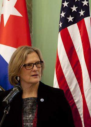 Kathryn Dwyer Sullivan, directora de la Oficina Nacional de Administración Oceánica y Atmosférica de Estados Unidos. Foto: Ismael Francisco/Cubadebate