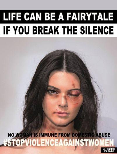 Kendall Jenner se une a campaña por el Día de la Eliminación de la Violencia contra la Mujer. Foto: Alexsandro Palombo.