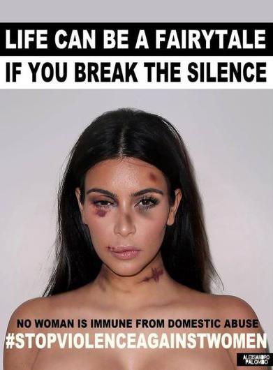 Kim Kardashian se une a campaña por el Día de la Eliminación de la Violencia contra la Mujer. Foto: Alexsandro Palombo.