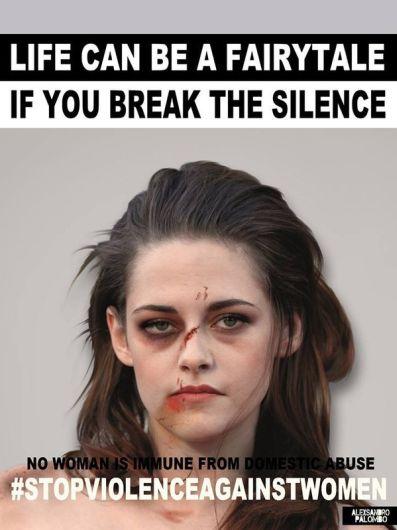 Kristen Stewart se une a campaña por el Día de la Eliminación de la Violencia contra la Mujer. Foto: Alexsandro Palombo.