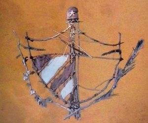 """Escudo mambí del artista cubano de la plástica Kcho forma parte de la portada del libro """"Cuba libre: la utopía secuestrada"""". Foto: Archivo."""