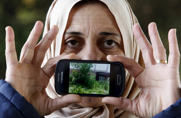 Logine de Hamslo, Siria: una foto de su casa. Foto: Srdjan Zivulovic/ Reuters.