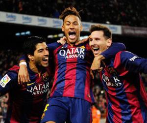 La MSN. Neymar al centro.
