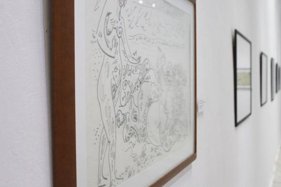 Estuvieron expuesta decenas de obras de los importantes artistas, el cubano, Lam y el belga, Masson. Foto: José Raúl Concepción/Cubadebate.