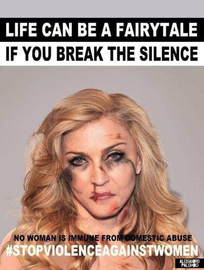 Madonna se une a campaña por el Día de la Eliminación de la Violencia contra la Mujer. Foto: Alexsandro Palombo.