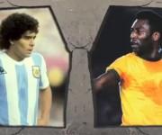 Los dos mejores jugadores de la historia, Maradona y Pelé, no coincidieron en la misma época.