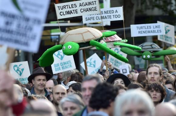 Marcha en Melbourne, Australia.  Foto: AFP.