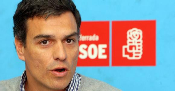 Pedro Sánchez, líder del PSOE. Foto tomada de revolucion.es.