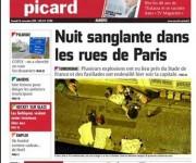 'Esta vez se trata de la guerra' reseñó Le Parisien.