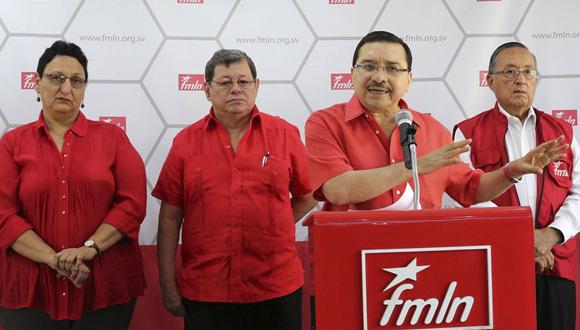 La dirigencia del FMLN da a conocer detalles sobre el Primer Congreso. (Foto: Diario Co Latino/Guillermo Martínez)