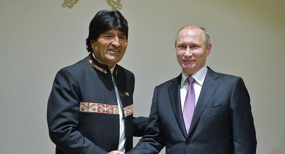 Gazprom y otras empresas rusas interesadas en trabajar en Bolivia, dice Putin.
