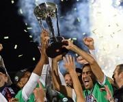 Raúl celebra el triunfo en la liga de EEUU. Foto: EFE