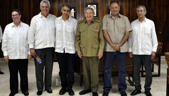 Recibe Raúl a líder chileno