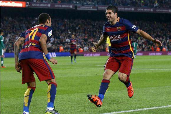 Suárez y Neymar dejaron al Barcelona solo en la punta de la Liga española de fútbol. Foto: www.sportyou.es