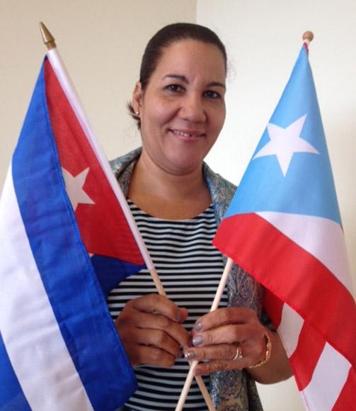 Tania Parra Fonseca,  funcionaria del ICAP de visita en Puerto Rico.