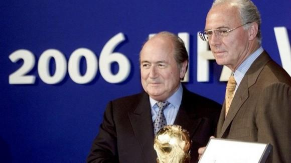 Blatter y Beckenbauer en la designación de Alemania 2006.