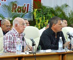 José Ramón Machado Ventura presidió la Asamblea de Balance en Villa Clara. Foto: SMB