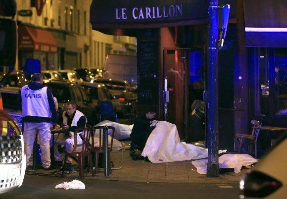 Atentados en el centro de París. Foto: AP.