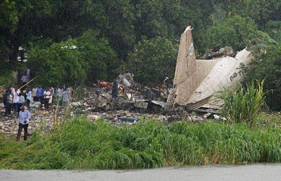 Accidente de avión en Sudán del Sur. Foto: AFP.