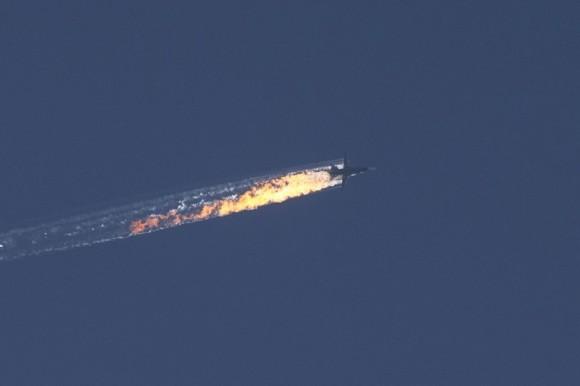 Derribo del avión ruso en Turquía. Foto: Fatih Akta/ Anadalu Agency /Getty Images.