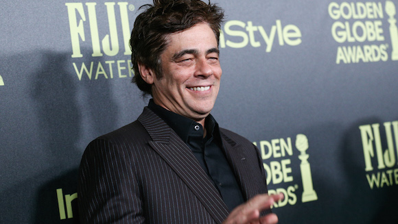 In this Nov. 17, 2015 file photo, Benicio Del Toro attends the Miss Golden Globe InStyle Party held at Ysabel, in West Hollywood, Calif. Del Toro, Geraldine Chaplin and director Ruy Guerra are among the personalities who will attend the International Festival of New Latin American Cinema in Havana, starting on Dec. 13, 2015. (Photo by John Salangsang/Invision/AP, File)