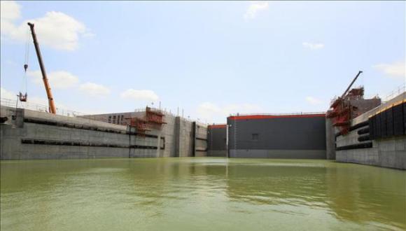 Ampliación del Canal de Panamá. Foto: EFE.