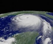 Imagen satelital del Huracán Katrina.