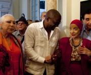 Cristina Hoyos, Jesús Lara y Alicia Alonso en exposición que se inauguró esta tarde en el Museo de la Danza. Foto: Ismael Francisco/ Cubadebate.