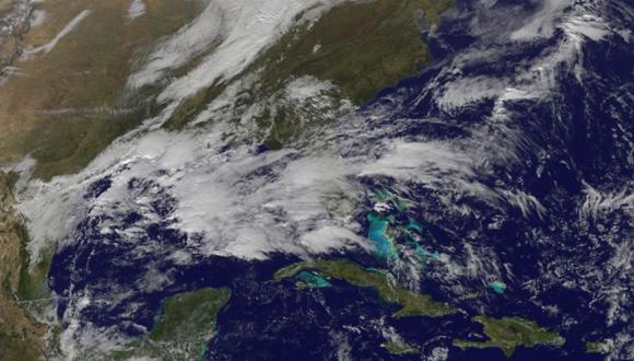 Imagen satelital ofrecida por el Instituto de Meteorología de Cuba.