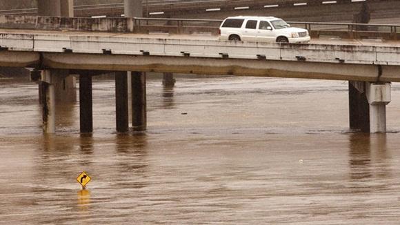 Se registran grandes inundaciones en la región. Foto: Reuters.