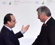 Hollande dio la bienvenida a Miguel Díaz Canel en la Cumbre. Foto: Getty Images