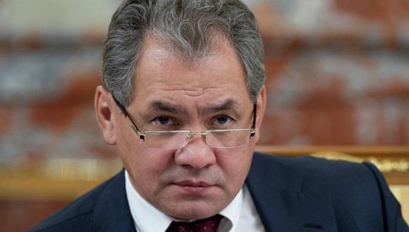 Ministro de defensa ruso, Sergei Shoigu.