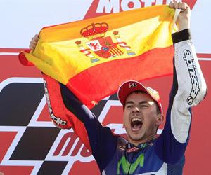 Jorge lorenzo gana el título de Moto GP. (Foto: AP.)