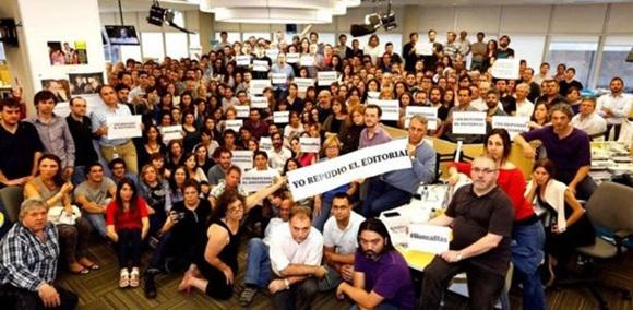 Los trabajadores del diario repudiaron el editorial a través de un comunicado. Foto: Ámbito.