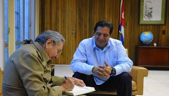 Durante el encuentro se trataron temas de mutuo interés de la agenda regional e internacional. Foto: Granma.