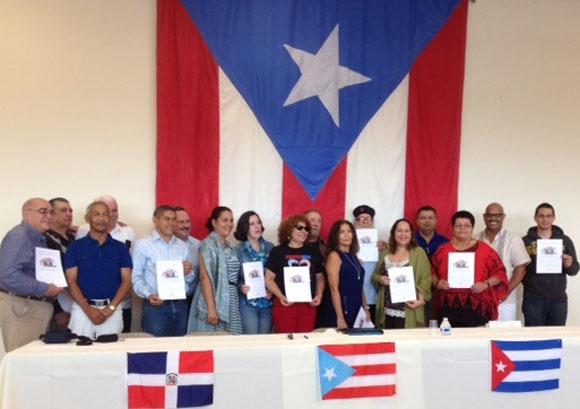 Reciben puertorriqueños y dominicanos, el agradecimiento de los Cinco Héroes Cubanos, a través de Tania Parra, funcionaria del ICAP.
