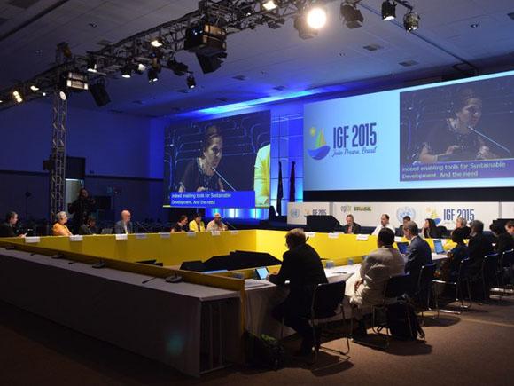 Salón principal del Foro ONU sobre Gobernanza de Internet. Foto:  Diogo Almeida/G1