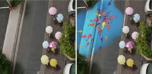 corea del sur pintura lluvia