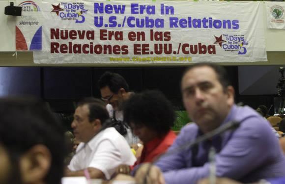 Solidarios del mundo con la causa de Los Cinco festejaron en La Habana, 2 de mayo de 2015. Foto: Ismael Francisco