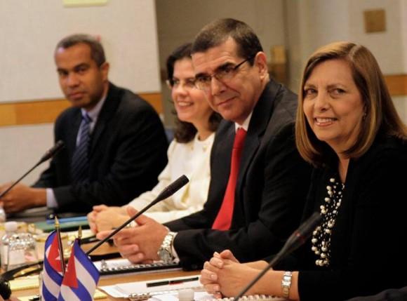 Segunda Ronda de conversaciones Cuba-EEUU, Washington, 27 de febrero de 2015. Foto: Ismael Francisco