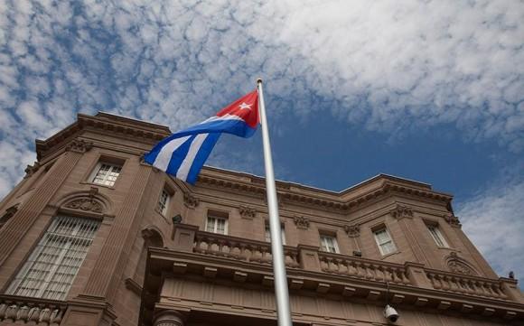 La bandera cubana ondea en Washington, 20 de julio de 2015. Foto: Ismael Francisco