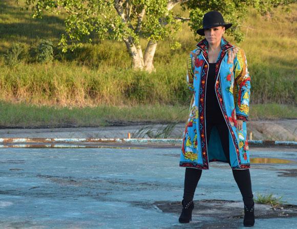 Olga Tañón en la filmación de Tú eres la razón. Foto: Marianela Dufflar/ Cubadebate.