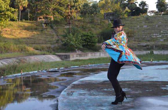 Olga Tañón en la filmación del video clip Tú eres la razón. Foto: Marianela Dufflar.