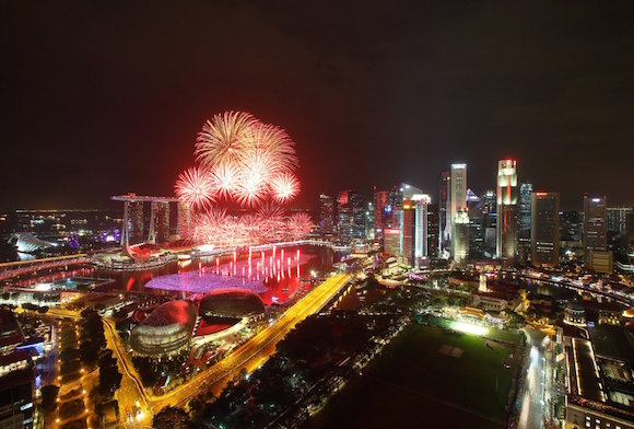 Celebraciones en Singapur. Foto: Getty Images